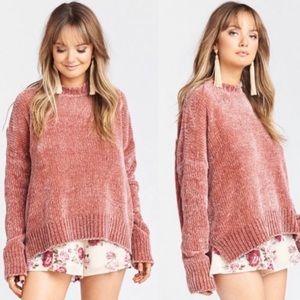 Show Me Your MuMu Jesse Mauve Chenille Sweater
